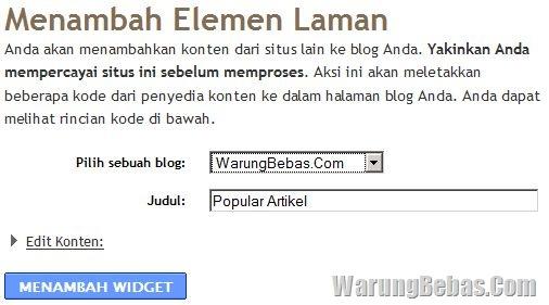 popular post blogger/blogspot