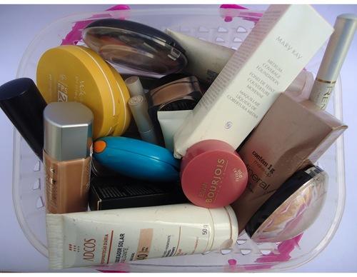 Guardando maquiagens - Produtos de pele