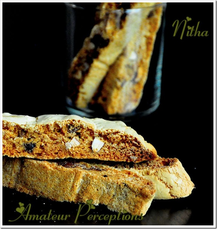 Almond Chocolate Biscotti 1