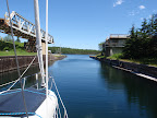 sailing into st. peters locks