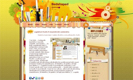 Bedshaped-Blogger-Template