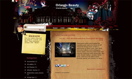 Orlando-Beauty-Blogger-Template