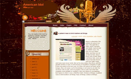 American Idol Blogger Template