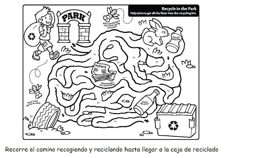 Reciclaje Mundo Para Colorear   www.imagenesmi.com