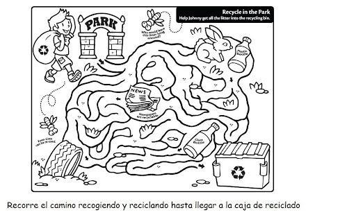 DIBUJOS DE REDUCE RECICLA REUTILIZA PARA COLOREAR