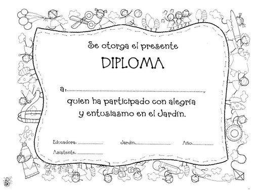 Diplomas De Graduacion Para Imprimir