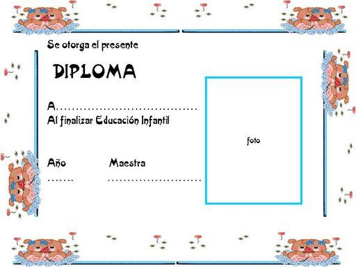 Diploma para niños cristianos - Imagui