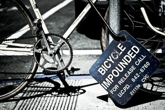 UC Berkeley Bicycle Impounded