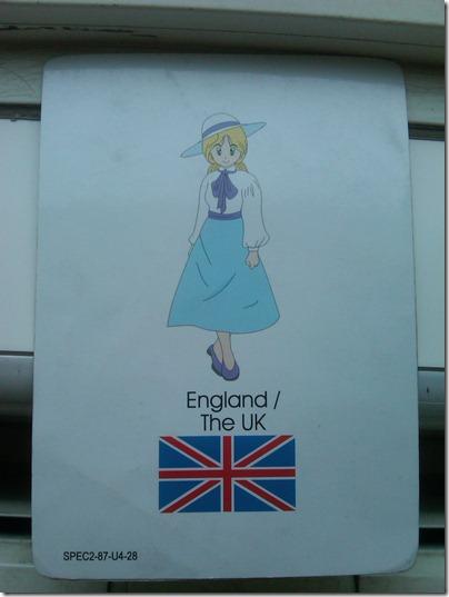 2010.11.22 - English Cards England