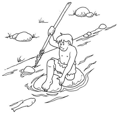 Dibujos para colorear de la Prehistoria - Imagui