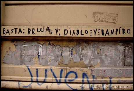 Bruja diablo y banpiro - Graffiti, Buenos Aires