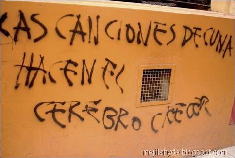 Canciones de cuna, graffiti