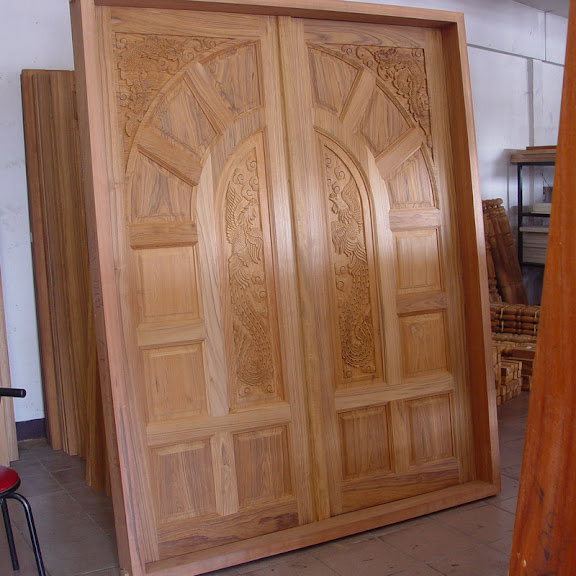 Wood Carved Front Doors For Reference Kerala Home