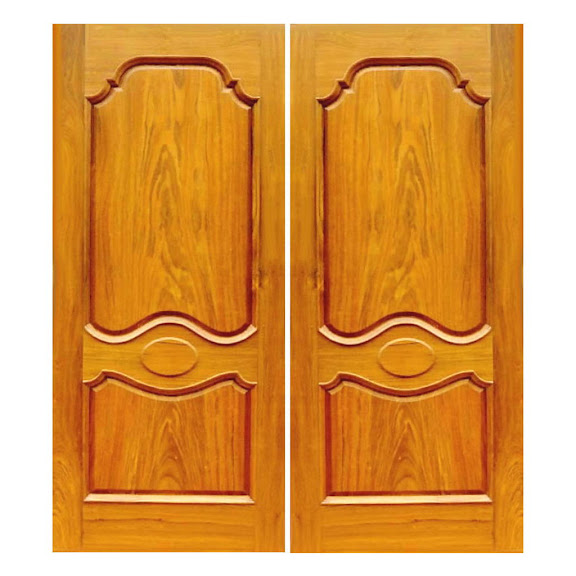 wood carved front doors for reference - Kerala home