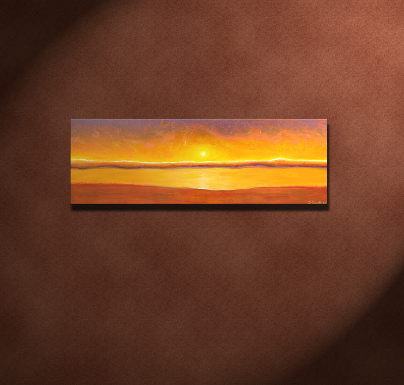 Sunset Contemporary Abstract Painting For Sale