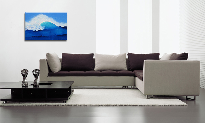 Contemporary Abstract Art Wave Painting