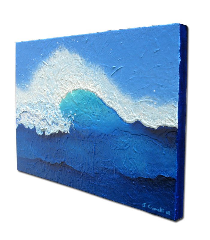Side View of Contemporary Seascape Paintings For Sale