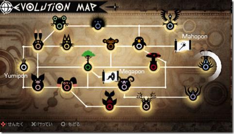 Evolution map of Yumipon