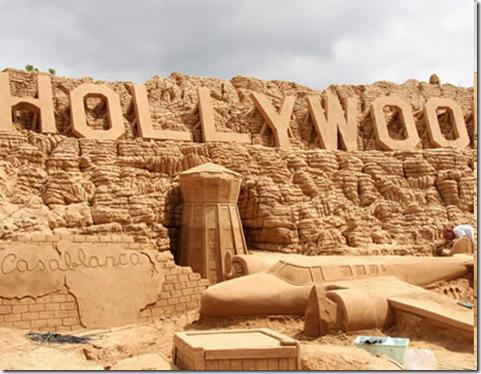 Cкульптуры из песка