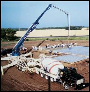 Fig.15. A truck-mounted pump and boom can conveniently move concrete vertically or horizontally to the desired location.