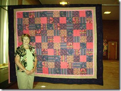 Kathy H with quilt