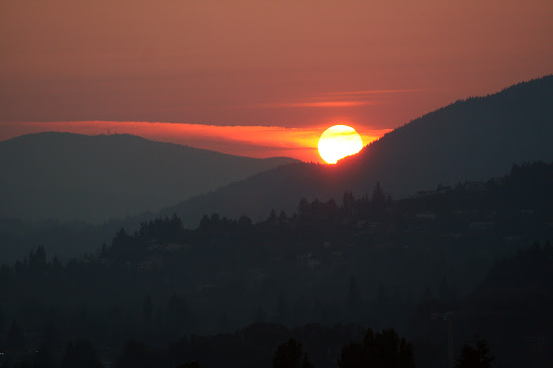 Sunset from North Vancouver