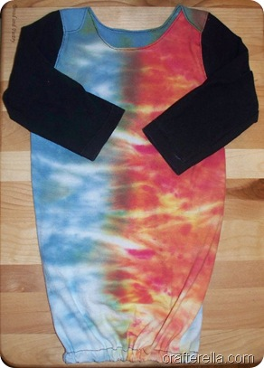 newborn gown tye dye