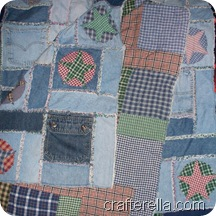 quilt - denim appliqued