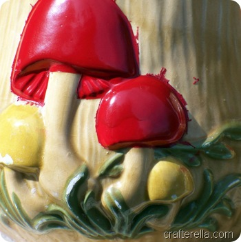 mushroom canisters red paint 2
