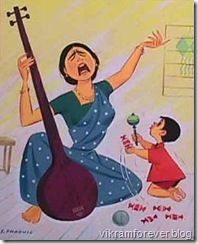 child can make his mother cry while playing a song