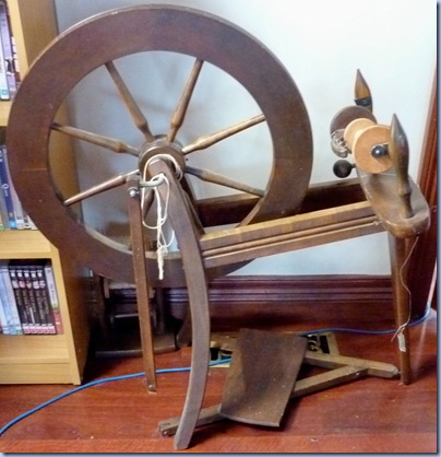 brown spinning wheel
