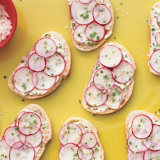 Radish-Chive Tea Sandwiches with Sesame and Ginger