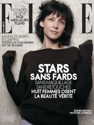 Sophie Marceau at French Elle, April 09.
