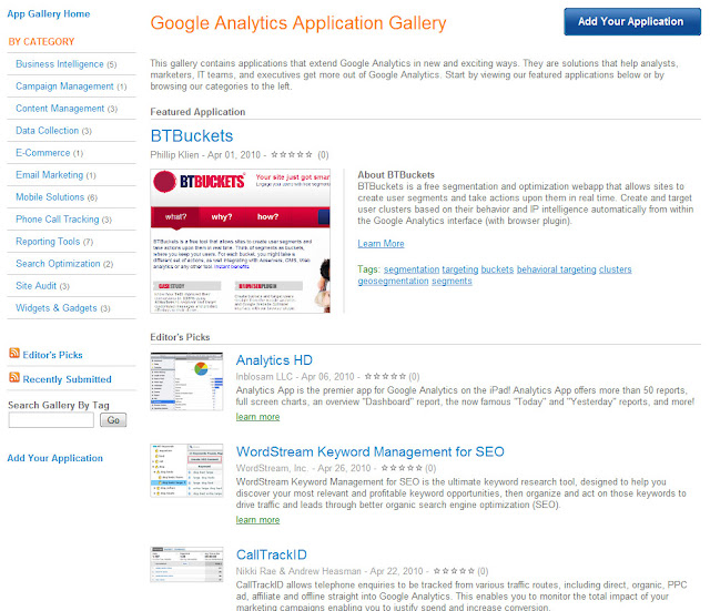 Analytics Application Gallery