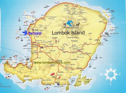 خريطة جزيرة لومبوك