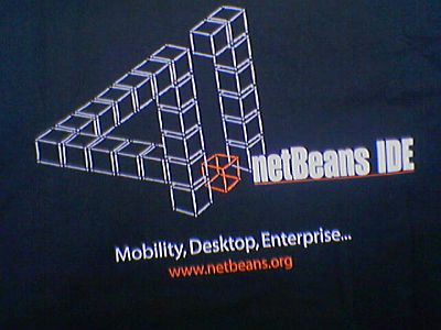 NetBeans logo on a T-shirt