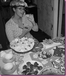 birthday teaparty12 black and white