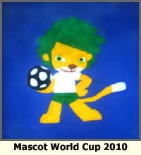 kaos anak, world cup 2010, mascot, kaos world cup