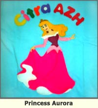 princess aurora, t-shirt, anak, lucu