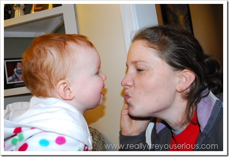 Mommy and Me Monday (kissy face)