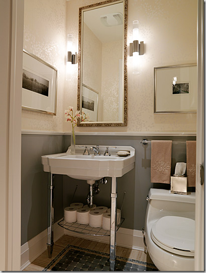 Prettying up the powder room vanessa francis design What is powder room