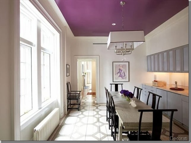 purple-ceiling decorati