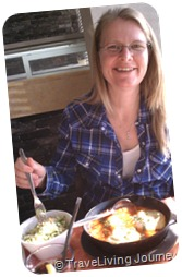 Patti got her Shakshuka and ISraeli Salad