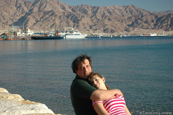 Amit (my daughter) and I on the beach
