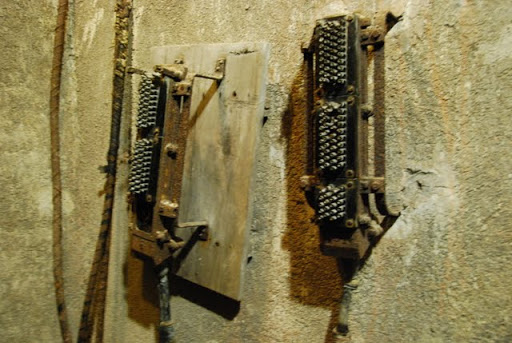 Фрагмент старого телефонного коммутатор армии Вермахта.JPG