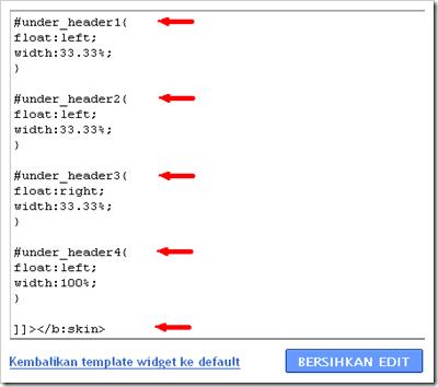 kode HTML 4 kolom c