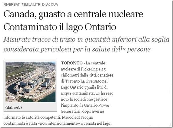 incidente nucleare canada