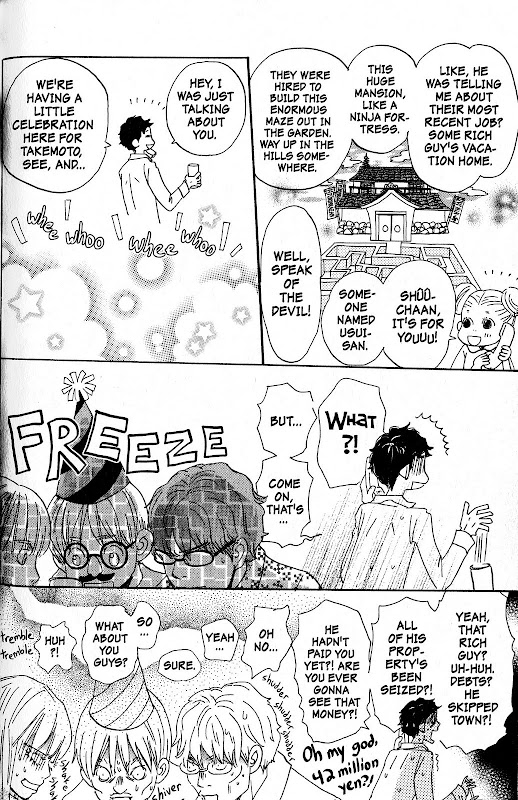 Takemoto and company get the bad news in Honey and Clover volume 6