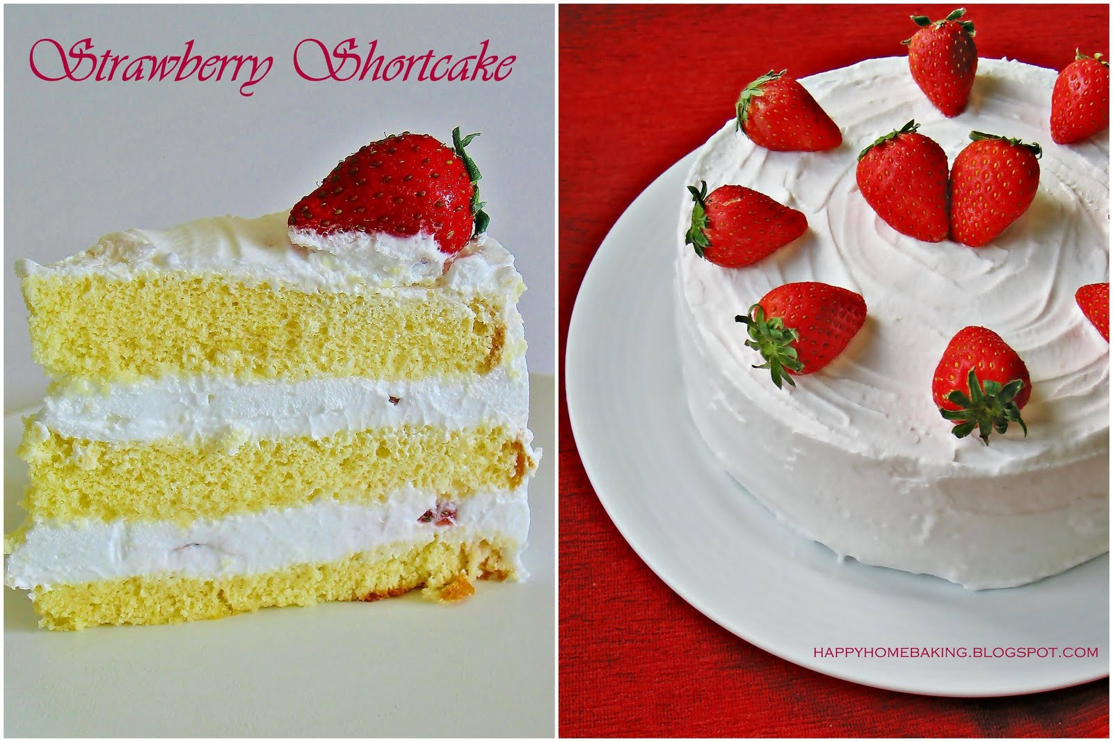 Happy Home Baking Strawberry Shortcake Japanese Style