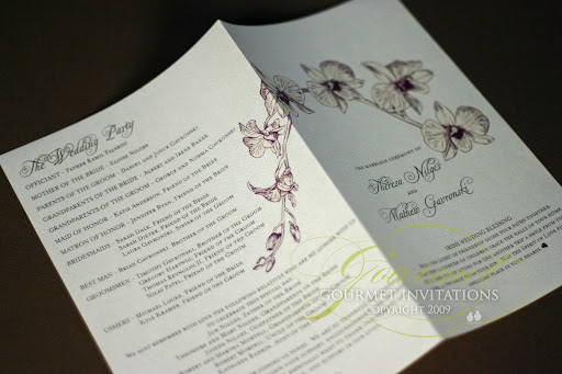 Terri 39s Orchid Theme Wedding Terri 39s gorgeous orchid invitations became the